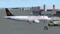 Air Canada Airbus A320-200 at the gate.