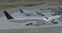 Air Canada Boeing 767-200 PW at the gate.