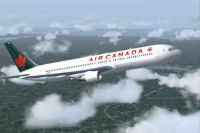 Screenshot of Air Canada Boeing 767-375 in flight.