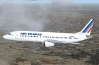 Screenshot of Air France Boeing 737-400 in flight.