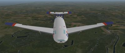 Screenshot of Boeing 848-F FedEX in flight.