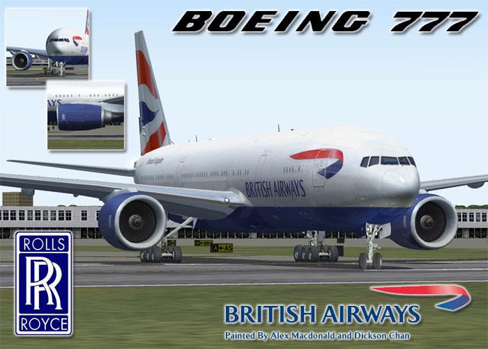 British Airways Boeing 777 236er G Ymmf For Fs2004