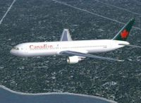 Screenshot of Canadian Boeing 767-375 in flight.