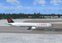 Screenshot of Canadian Boeing 767-375ER on runway.