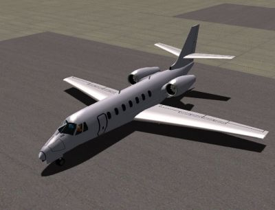 Screenshot of Citation Sovereign (C680) on the ground.
