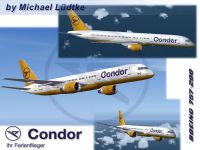A collection of images of Condor Boeing 757-200.