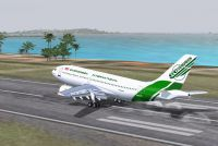 Screenshot of Evergreen Airbus A310-203 taking off.