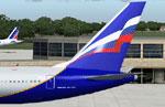 Screenshot of Aeroflot Boeing 767-300 tail decal.
