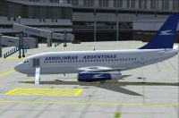 Aerolineas Argentinas Boeing 737-200 on the ground at the gate.