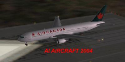 Screenshot of Air Canada Boeing 767-300 on the ground.