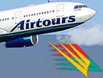 Screenshot of Airtours International Airbus in flight.