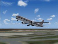Screenshot of Asiana Cargo Boeing 767-300ER taking off.