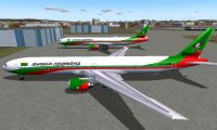 Screenshot of Biman Boeing 777-300 on the ground.