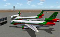 Biman Douglas DC-10-30's on the ground.