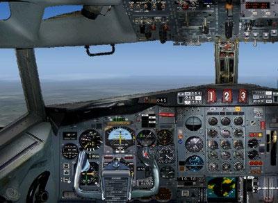 Boeing 727-200 main panel.