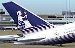 Screenshot of Britannia Airways Boeing 757-204 tail decal.