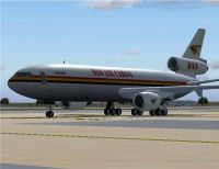 Screenshot of DAS Air Cargo Douglas DC-10-30 on the ground.