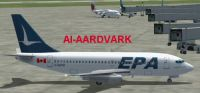 Screenshot of Eastern Provincial Airways 737-200 on the ground.