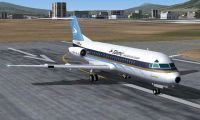 Screenshot of Fokker F28-4000 on runway.