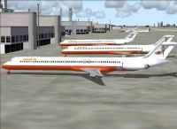 Screenshot of Hooters Air MD-83 on the ground.
