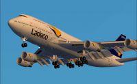Screenshot of Ladeco Boeing 747-400 in flight.