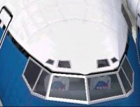 View of the cockpit from the outside.