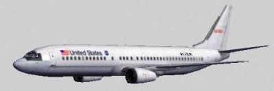 Screenshot of NASA STA Boeing 737-400.
