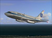 Screenshot of Pan Am Boeing 737-275 in flight.