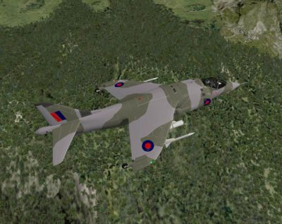 Screenshot of HAWKER HARRIER GR1 in flight.