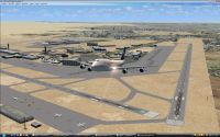 Plane leaving Cairo International Airport.