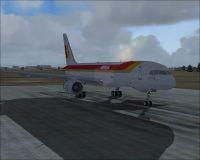 Screenshot of Iberia Boeing 757-200 EC-HDR on runway.