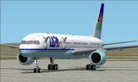 Screenshot of LAPA Boeing 757-200 on the ground.