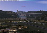 Plane approaching Bolzano, Italy.