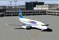 Screenshot of Ladeco Boeing 737-200 on the ground.