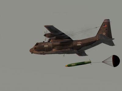 Screenshot of Lockheed AC-130 Spooky/Spectre in flight.