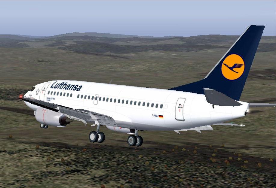 Lufthansa Boeing 737-500 for FS2004