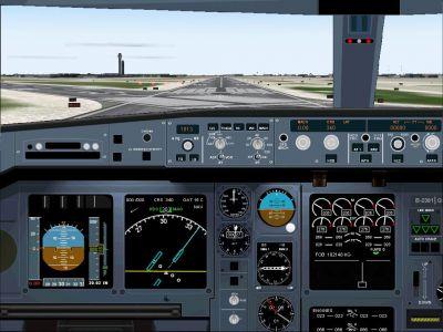 Mediterranea VA Airbus A340-313 main panel.