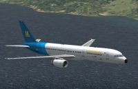 Screenshot of Mediterranea Virtual Boeing 757-200 in flight.