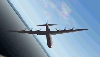 Screenshot of NB36 in flight.