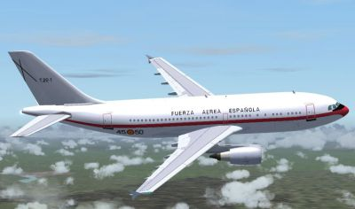 Screenshot of Spanish Air Force A310-304 in flight.
