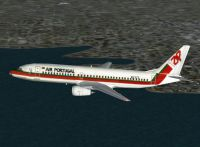 Screenshot of TAP Air Portugal Boeing 737 in flight.