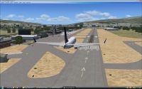 Plane om landing approach at Toncontin International.
