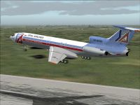 Screenshot of Tupolev Tu-154 B-2 taking off.