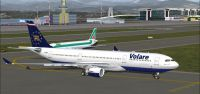 Screenshot of Volare Airlines Airbus A330-200 on the ground.