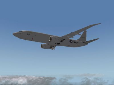 Screenshot of Boeing P-8 Poseidon in flight.