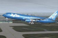 Screenshot of Zoom Boeing 767-328ER in flight.