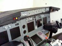 Christoff's cockpit with a standard PC yoke.