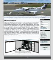 Screenshot of the Flairjet website in Jul, 2012.