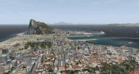 Screenshot using Aerosoft's Gibraltar scenery in FSX.