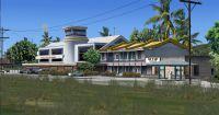 Nauru airport terminal.